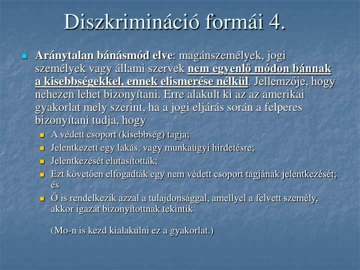 Diszkrimináció formái 4.