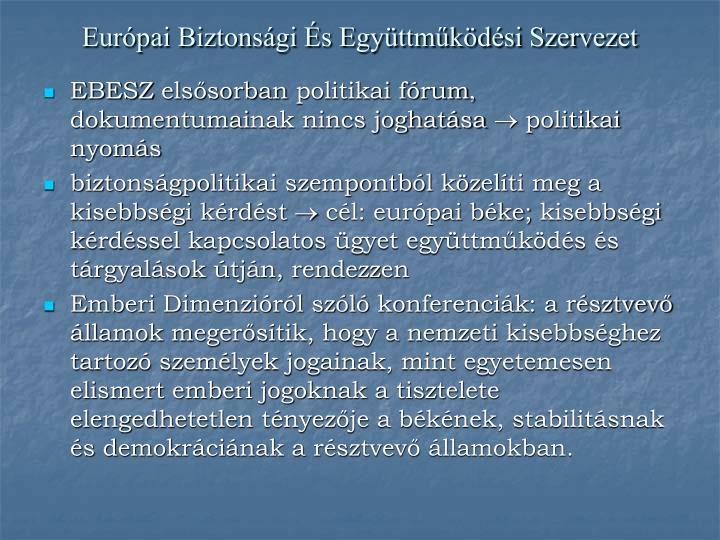 Európai Biztonsági És Együttműködési Szervezet