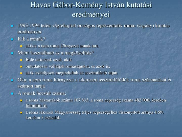 Havas Gábor-Kemény István