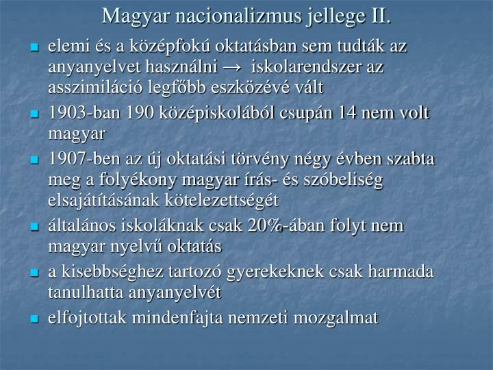 Magyar nacionalizmus jellege II.