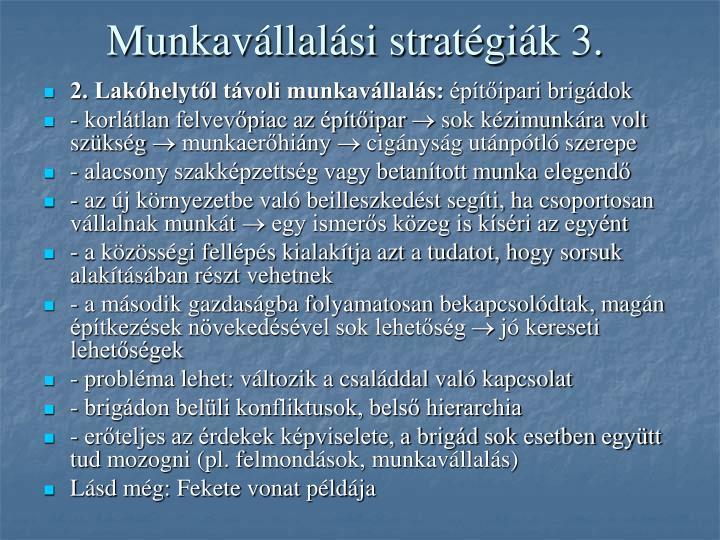 Munkavállalási stratégiák 3.