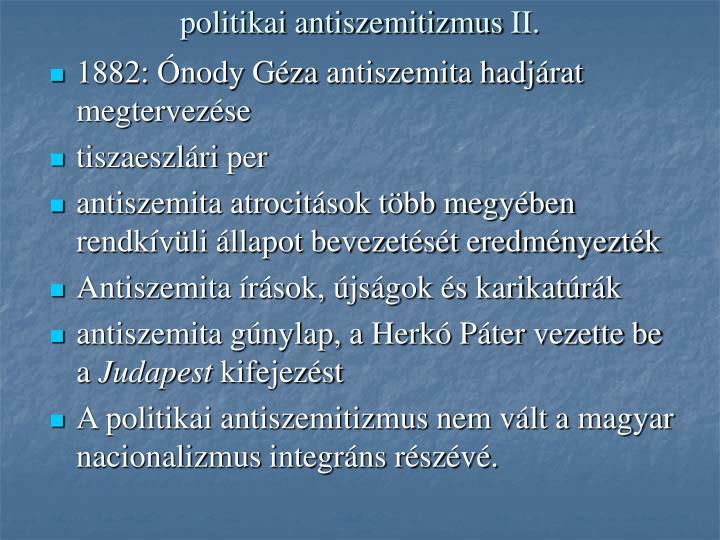 politikai antiszemitizmus