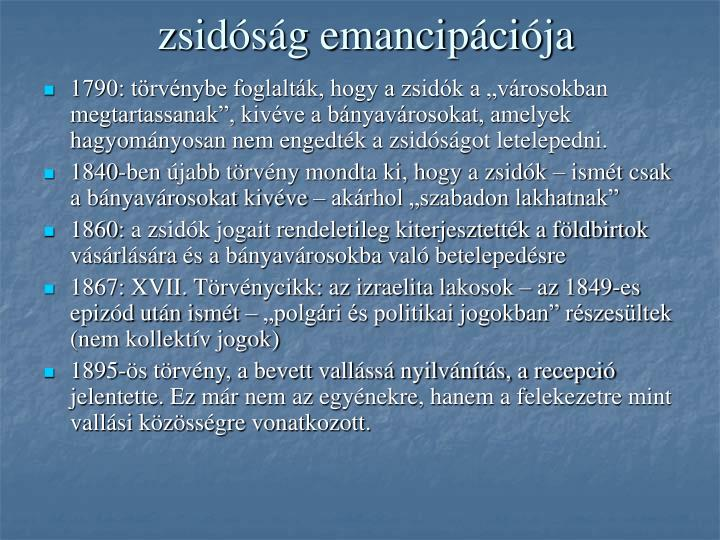 zsidóság emancipációja