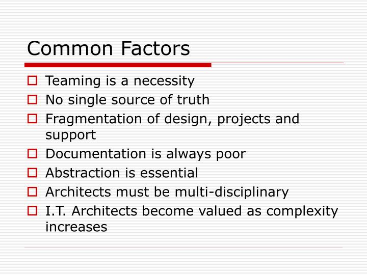 Common Factors