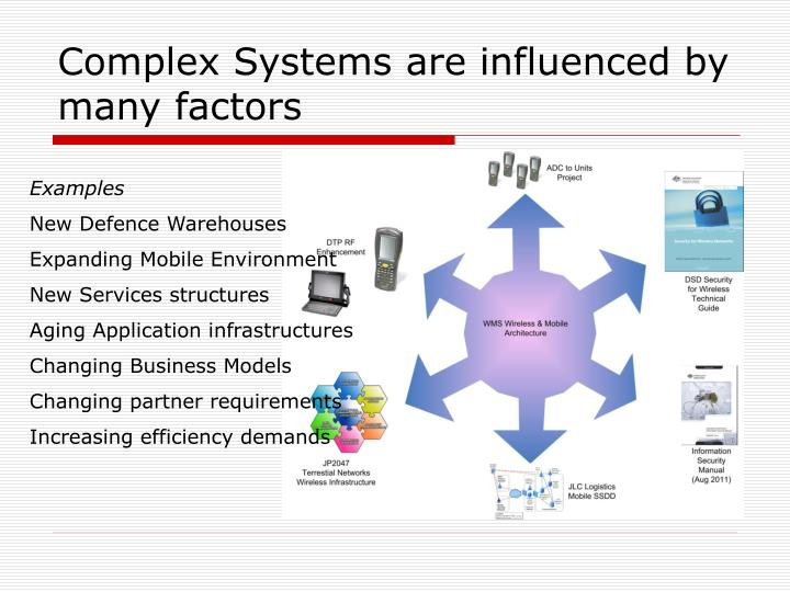 Complex Systems are influenced by many factors