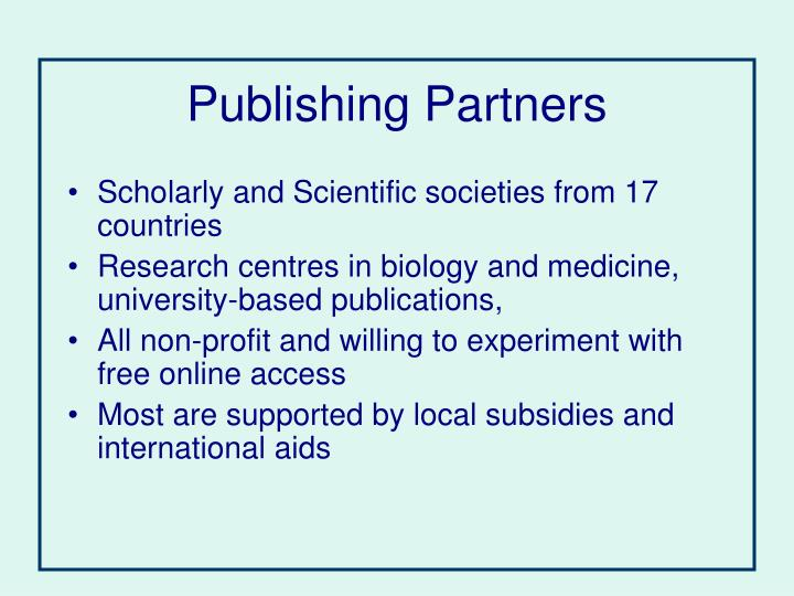 Publishing Partners