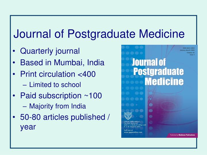 Journal of Postgraduate Medicine