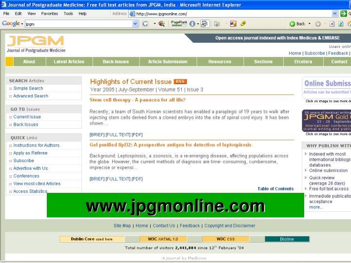 www.jpgmonline.com