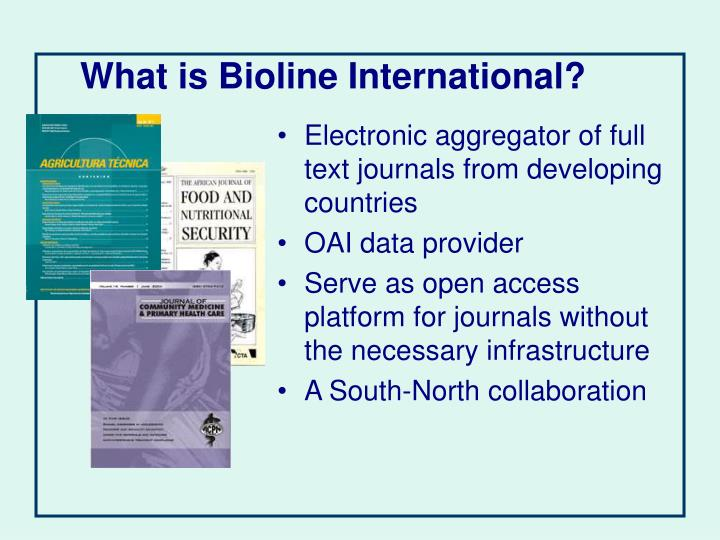 What is Bioline International?