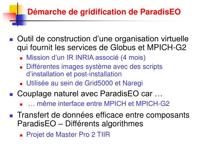 Démarche de gridification de ParadisEO