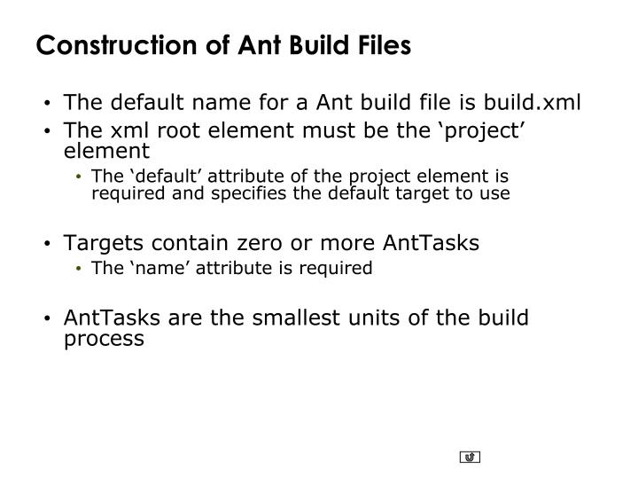 Construction of Ant Build Files