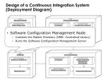 design of a continuous integration system deployment diagram