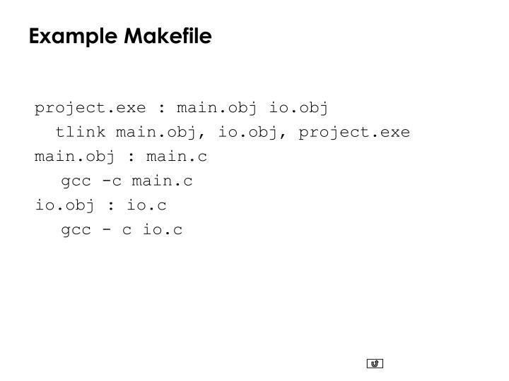 Example Makefile