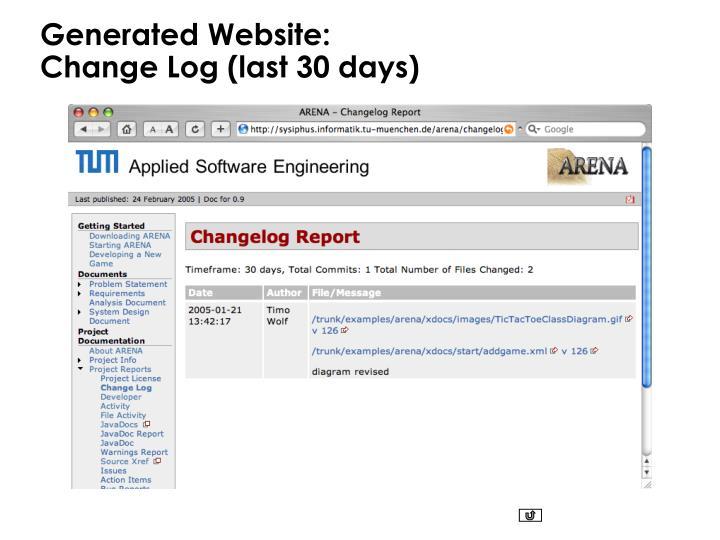 Generated Website: