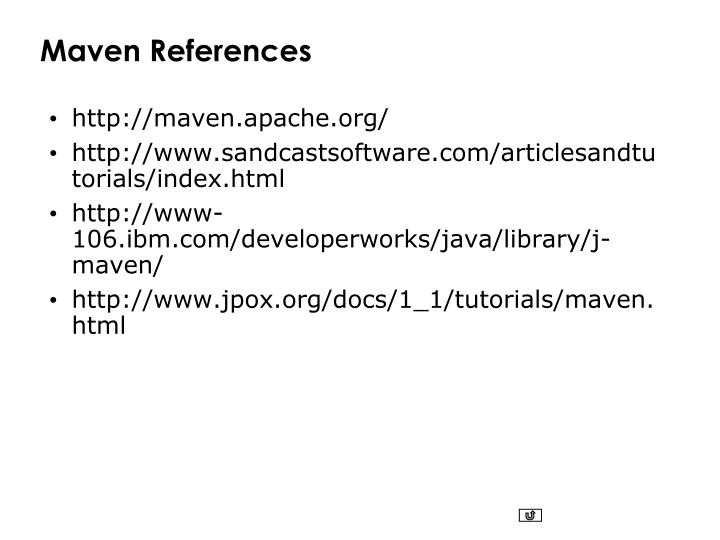 Maven References