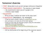 tomorrow s exercise