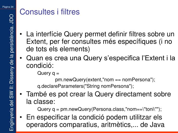 Consultes i filtres