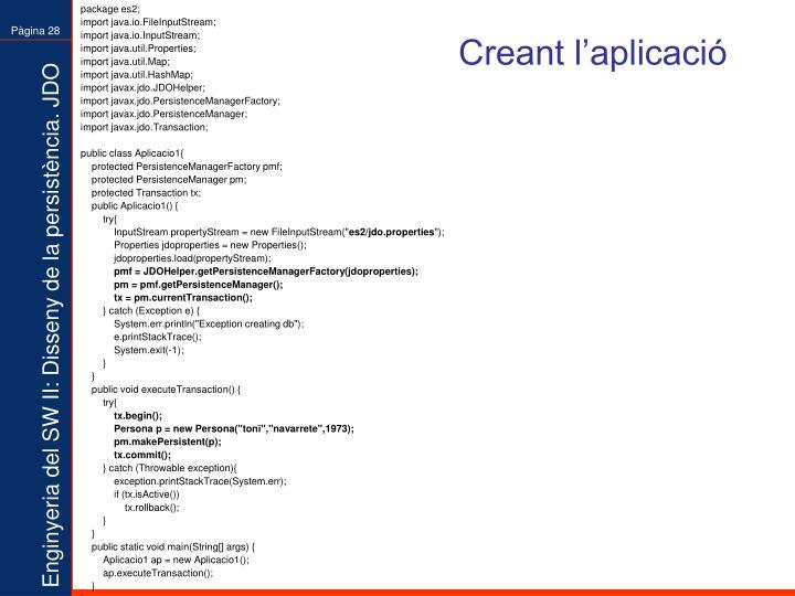 Creant l'aplicació