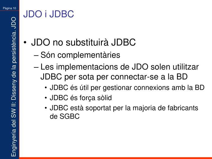 JDO i JDBC