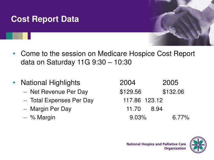 Cost Report Data