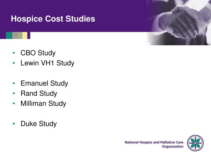 Hospice Cost Studies