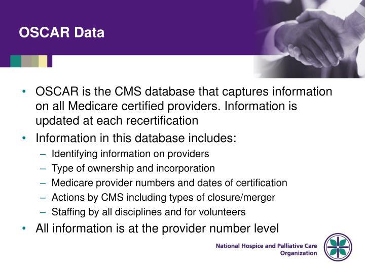 OSCAR Data