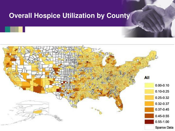 Overall Hospice Utilization by County