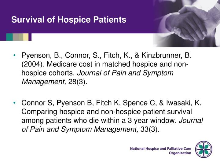 Survival of Hospice Patients