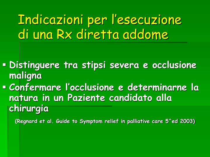 Indicazioni per l'esecuzione di una Rx diretta addome
