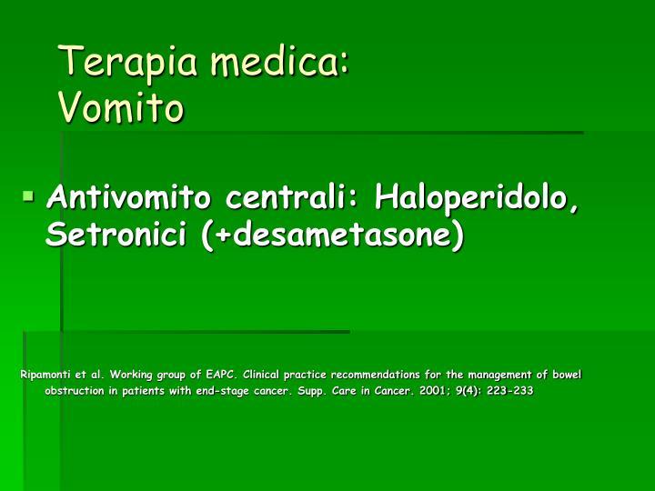 Terapia medica: