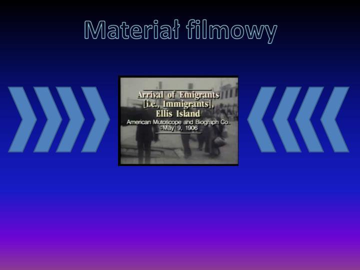 Materiał filmowy