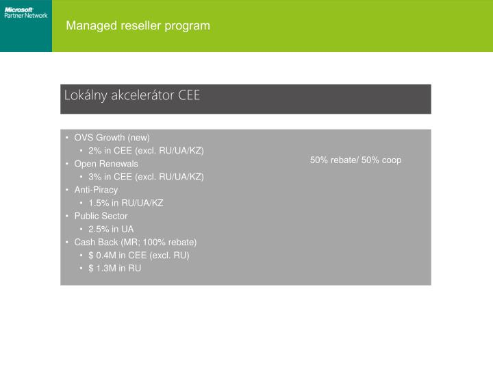 Managed reseller program