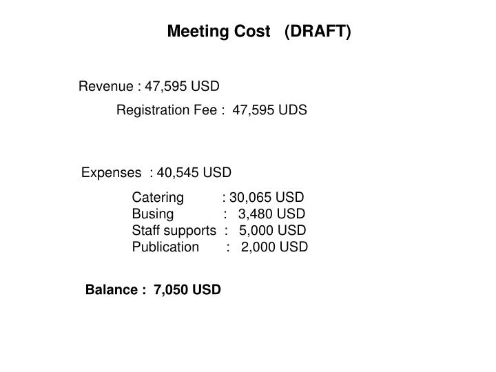 Meeting Cost   (DRAFT)