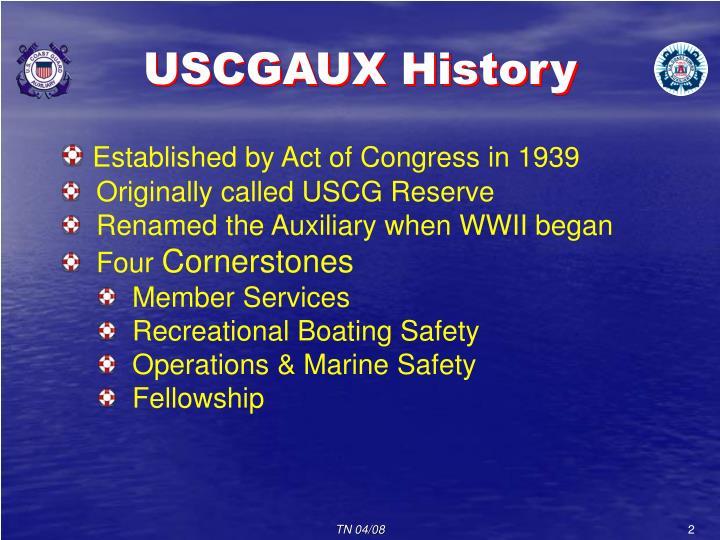 USCGAUX History