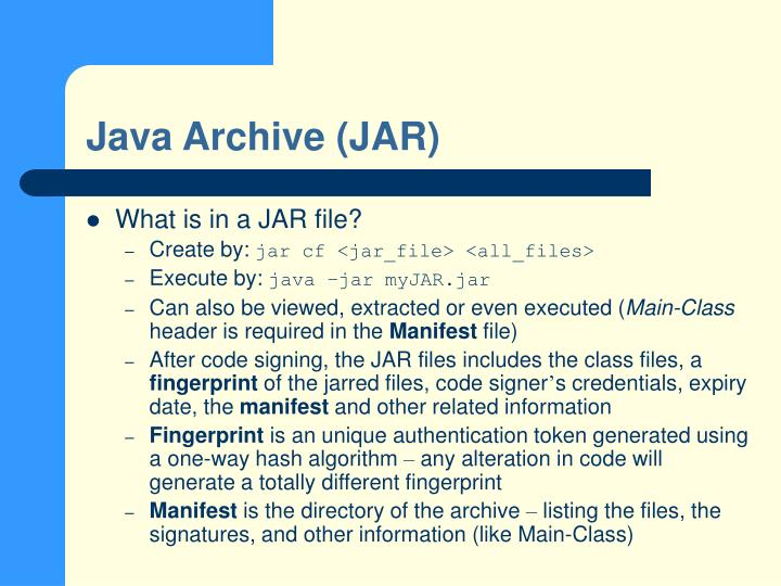 Java Archive (JAR)