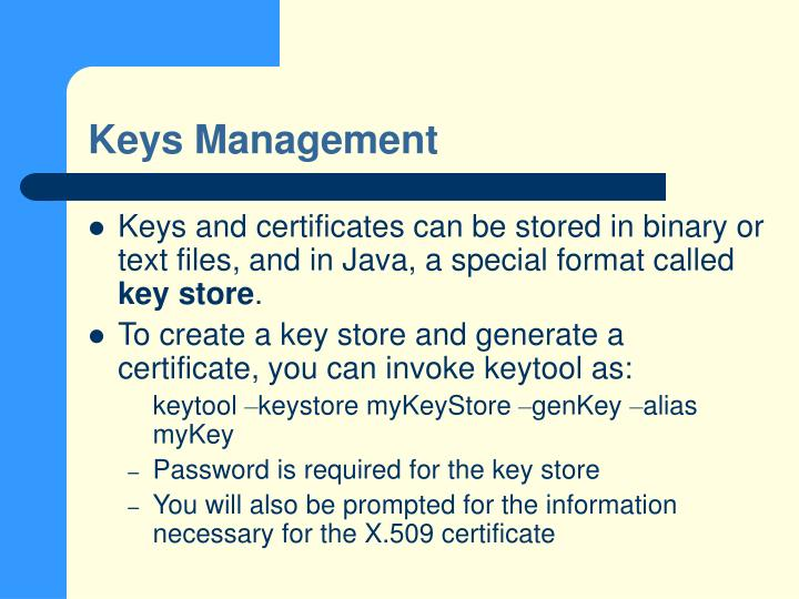 Keys Management
