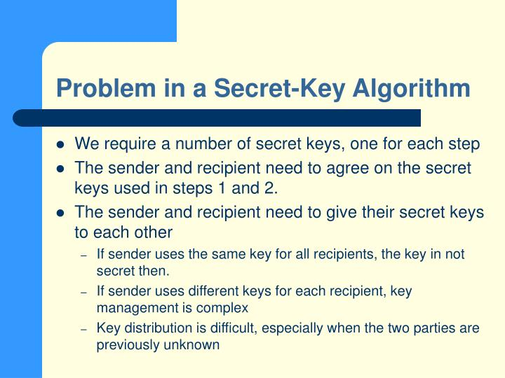 Problem in a Secret-Key Algorithm