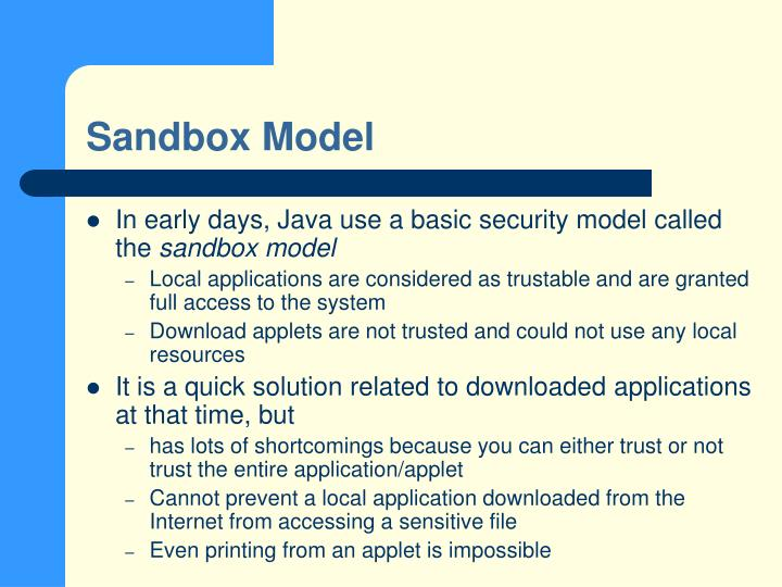 Sandbox Model