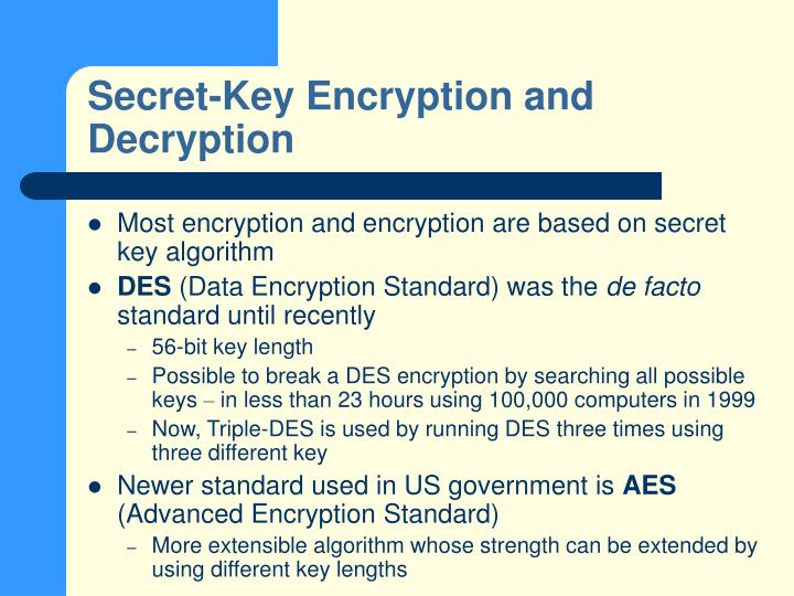 Secret-Key Encryption and Decryption