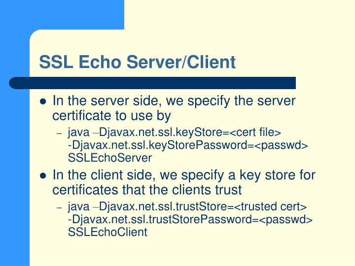 SSL Echo Server/Client