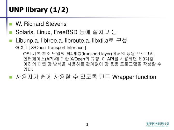 UNP library (1/2)