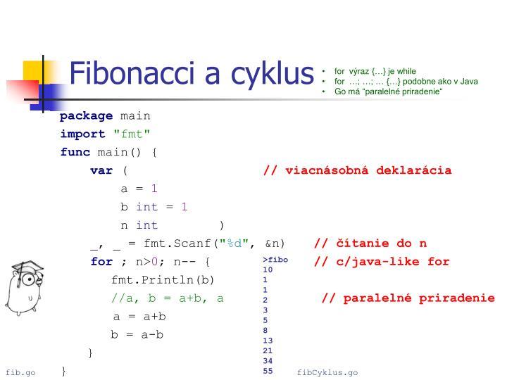 Fibonacci a cyklus