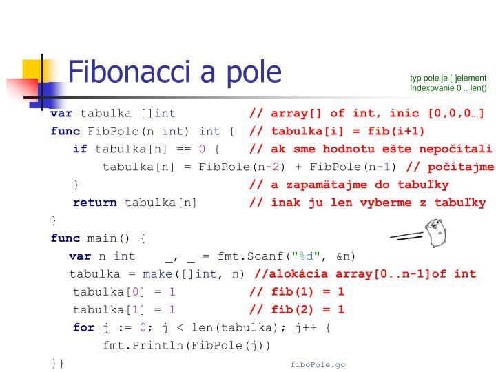 Fibonacci a pole