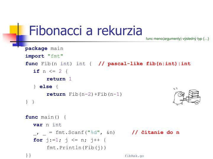 Fibonacci a rekurzia