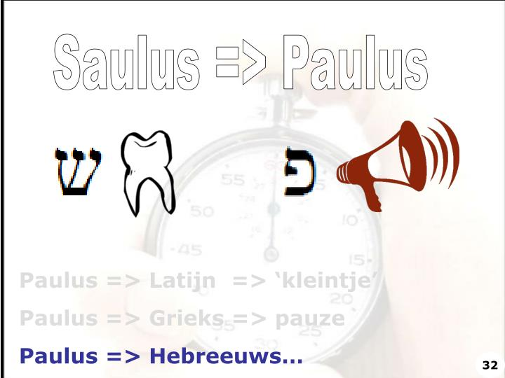 Saulus => Paulus