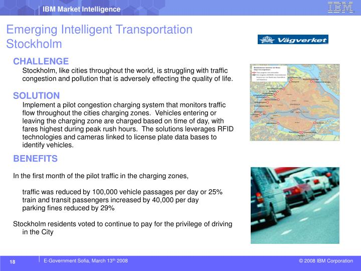 Emerging Intelligent Transportation