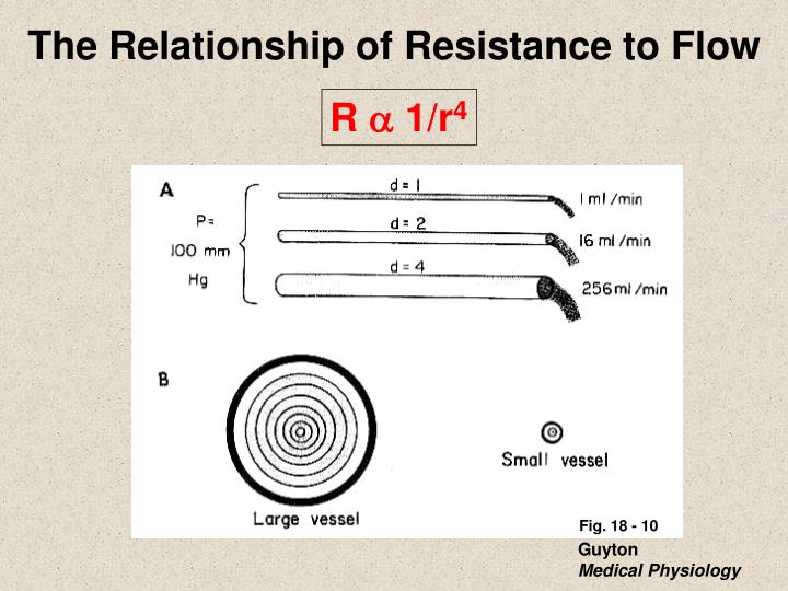 The Relationship of Resistance to Flow