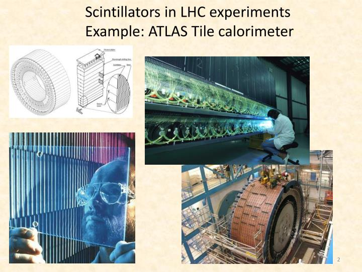 Scintillators in LHC experiments