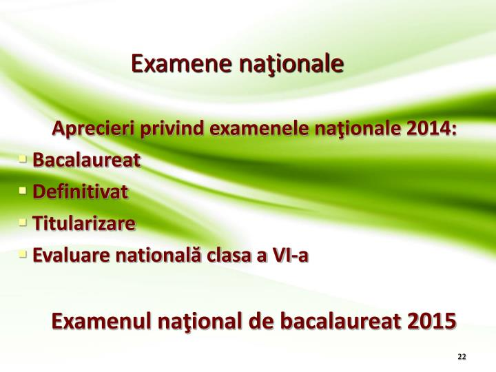 Examene naţionale