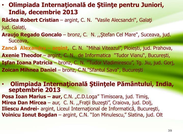 Olimpiada Internaţională de Ştiinţe pentru Juniori